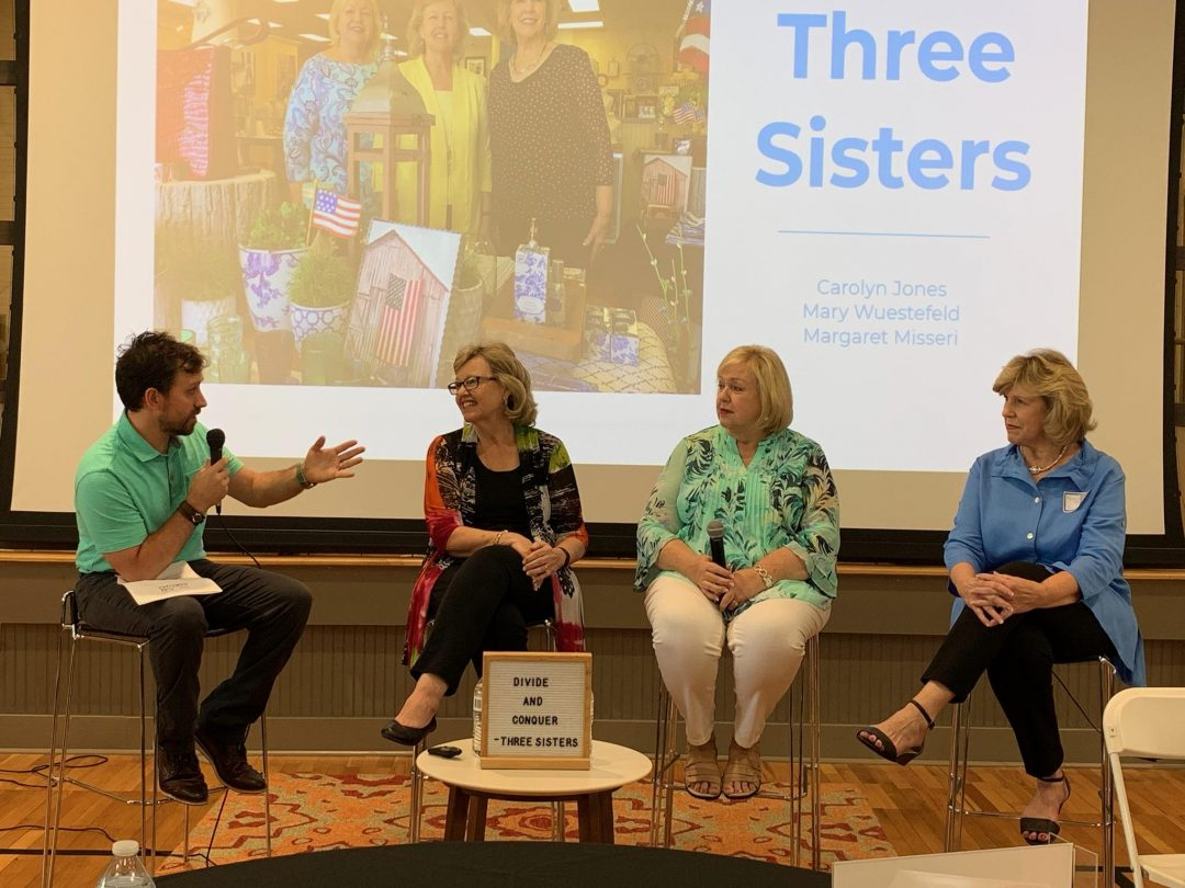 Interview of Three Sisters Gifts and Home Accents founders at the Lunch Circuit, Woodstock, GA